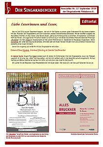 Newsletter Nr. 12