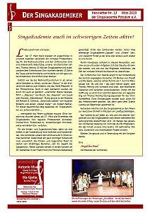 Newsletter Nr. 13