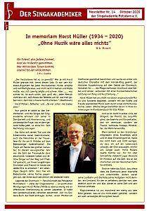 Newsletter Nr. 14