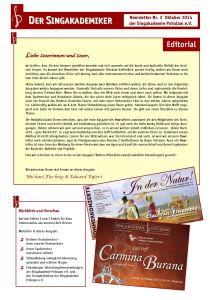 Newsletter Nr. 2 / Oktober 2014