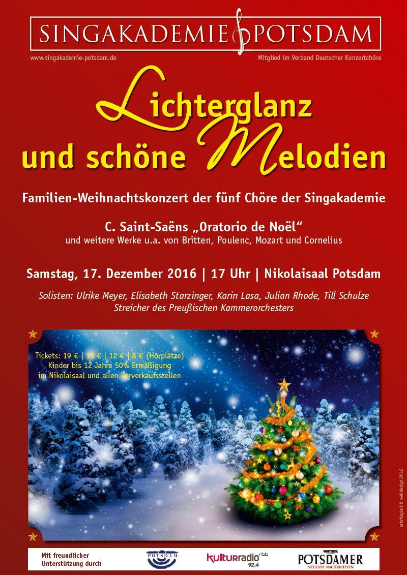 Weihnachtskonzert der Singakademie Potsdam